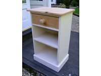 Wooden bedside table / cabinet