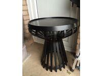 HABITAT BLACK SIDE COFFEE VINTAGE RETRO TABLE