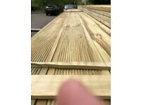 Decking timber pressure treated