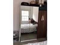 IKEA wardrobe with mirror doors and 6 shelfs 100x58 cm