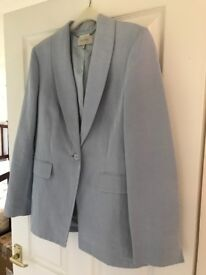 Hobbs linen and silk pale blue jacket