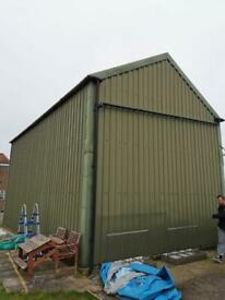 Metal frame building
