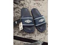Men's Umbro sliders x 2 pairs BRAND NEW