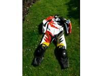 Motorbike one piece leathers