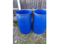 Large water butts ideal for an allotment
