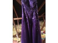 Prom dress. Stunning purple prom dress. Size 16. Purple. Sequined bodice & net skirt.