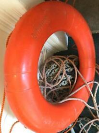 Standard-Galvanized-Boat-Fluke-Anchor- Safety (Ring) Buoy