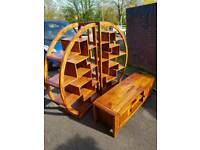 Rosewood Shelving & TV unit