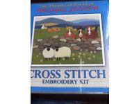 Cross stitch kit whimsical