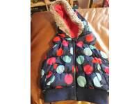 Girls body warmer jacket