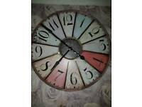 Shabby chic large wall clock