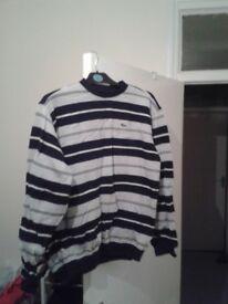 Blue stripy Lacoste jumper new