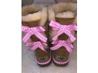 Women s or children s Genuine Beige UGG boots size uk 4 5af068358