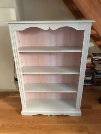 Two painted pine bookcases
