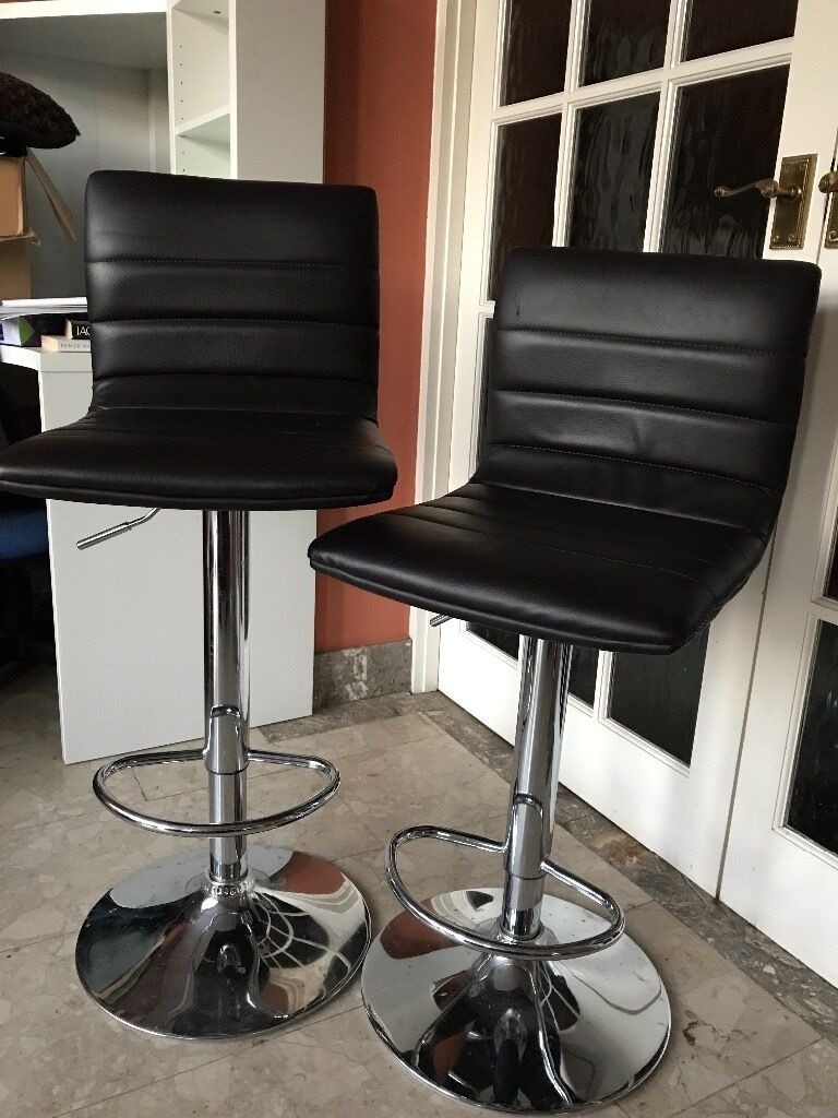 kitchen breakfast bar stools brown chrome pa  in