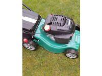 qualcast petrol lawnmower with grassbox like new