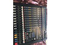 Dynacord mixer & Evzxa5-90(powered 1250 Watts) x 2 plus 1 x Rcf 902as(powered 1000 Watts)