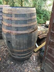 Huge whisky barrels