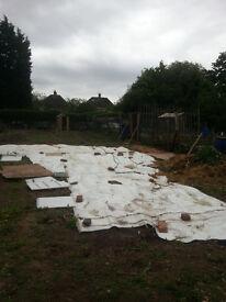 Big heavy duty tarpaulin ground covering sheeting £20