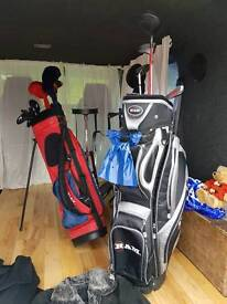 Ram golf bags and Donny golf bags and stand