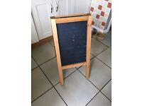 Pine sandwich board - perfect for a wedding