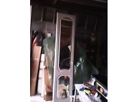 Hygiena mirrored wardrobe door's /white/good condition small crack in one mirror H/6ft/6 w/1ft6