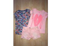 Next Shorts and 2 Tshirts age 10