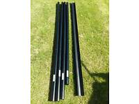 Lengths of guttering & downpipe