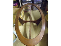G plan oval coffee table