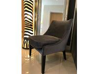 Bespoke Designer Charcoal Dark Grey Velvet Occasional Chair Armchair new Lounge Dining Room Bedroom