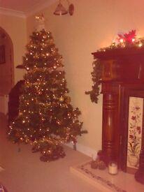 6ft Tall (183 cm) Pre lit Colorado Artificial Christmas Tree