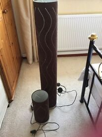 Tall and short floor lamps