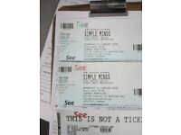 2 Simple Minds concert tickets for Albert Hall Manchester on 14/02/18