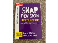 Collins AQA GCSE 9-1 English Literature 'Unseen Poetry' Snap Revision Guide