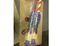 Brand new cricket bats with ball