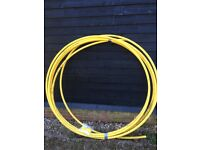 30m of yellow MDPE gas pipe + a straight coupling