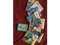 Thomas electronic reader and eight book library