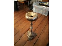 Gold and marble standing ashtray - an unusual piece!