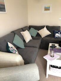 New large grey corner sofa