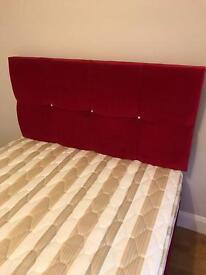 4foot 6 fushia pink diamonte bed and new mattress
