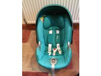 Cybex Aton car seat (teal) with ISOFIX BASE