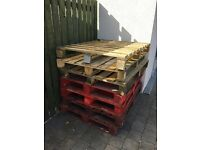 7 Wooden Pallets free to uplift