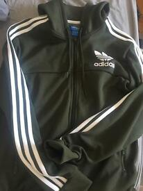 Khaki green adidas jacket (small)