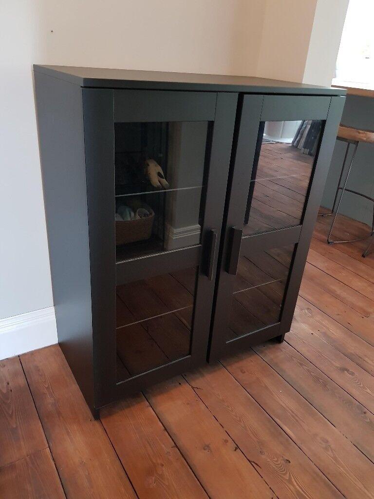 9e112136a416 Ikea Brimnes Cabinet Black Glass In Newtownabbey County Antrim