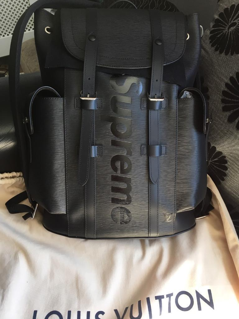 louis vuitton x supreme backpack and laptop case in archway london gumtree. Black Bedroom Furniture Sets. Home Design Ideas