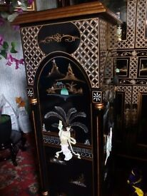 Oriental laquard mother of pearl cupboard forsale