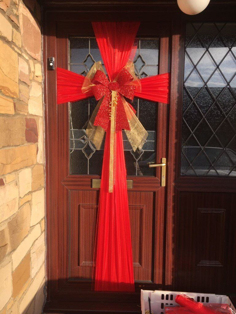 Christmas Door Dressing Front Bow
