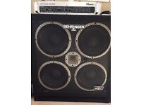 Bass Amp Head (BVP5500, tube) and Cab (BB410, 1200W), cables included