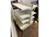 Shop garage metal shelving unit double sided adjustable sturdy