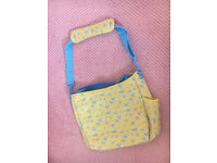 Changing bag - yellow and blue clouds - NEW